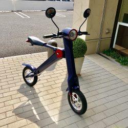 お客様が乗ってきた「UPQ バイク me01」